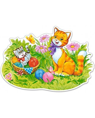 Puzzle Castorland Maxi - Kitten Family, 12 Piese