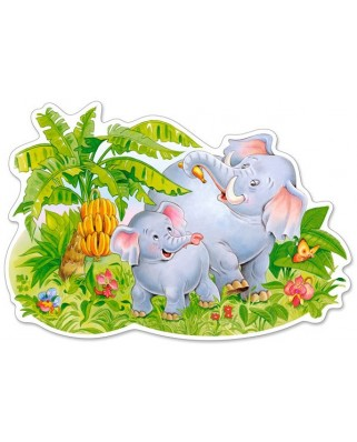 Puzzle Castorland Maxi - Playin Elefants, 12 Piese