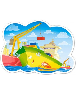 Puzzle Castorland Maxi - A Day In The Harbour, 12 Piese