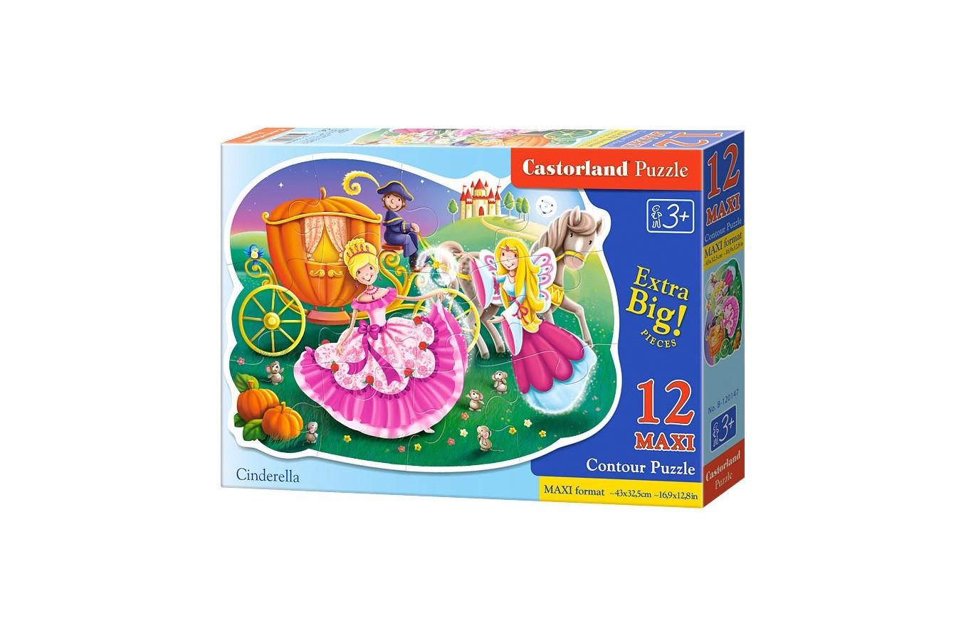Puzzle Castorland Maxi - Cinderella, 12 Piese