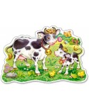 Puzzle Castorland Maxi - Cows On A Meadow, 12 Piese