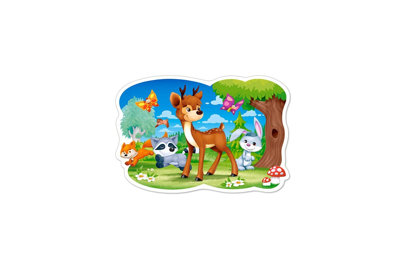 Puzzle Castorland Maxi - Deer And Friends, 12 Piese