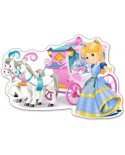 Puzzle Castorland Maxi - Princess Carriage, 12 Piese