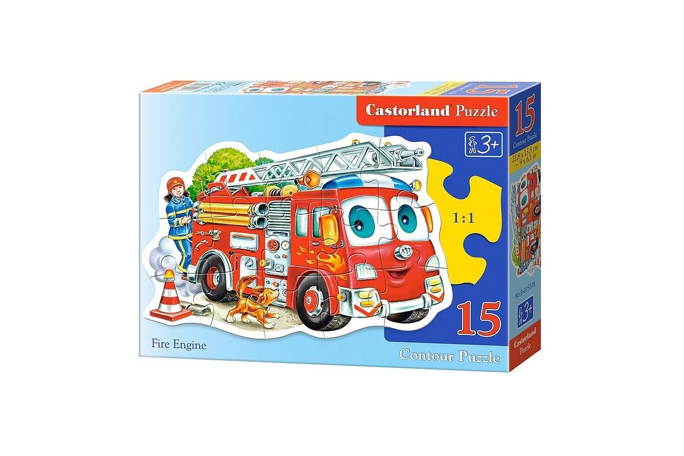 Puzzle Castorland Midi - Fire Engine, 15 Piese