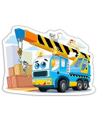 Puzzle Castorland Midi - Funny Crane Truck, 15 Piese