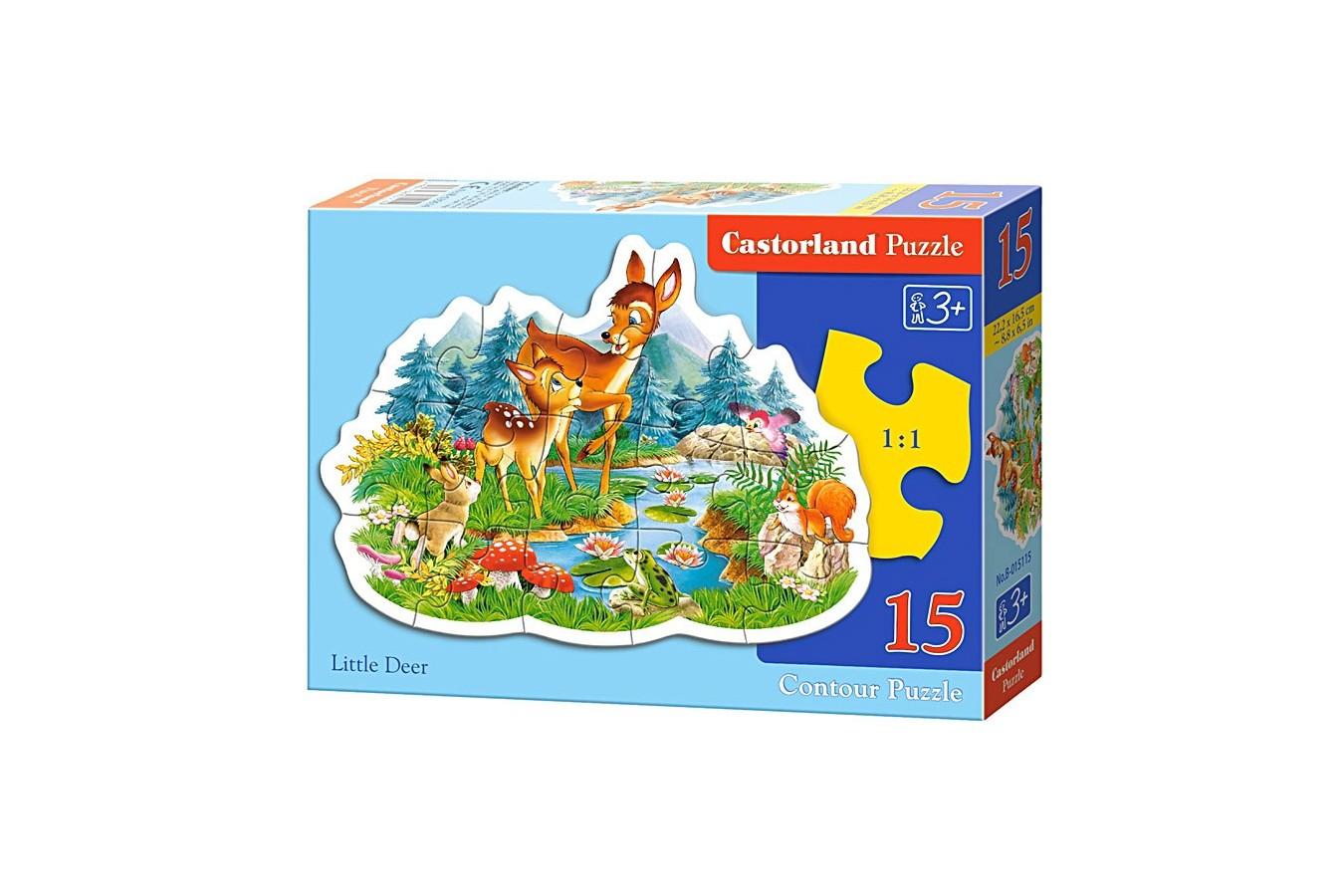 Puzzle Castorland Midi - Little Deer, 15 Piese