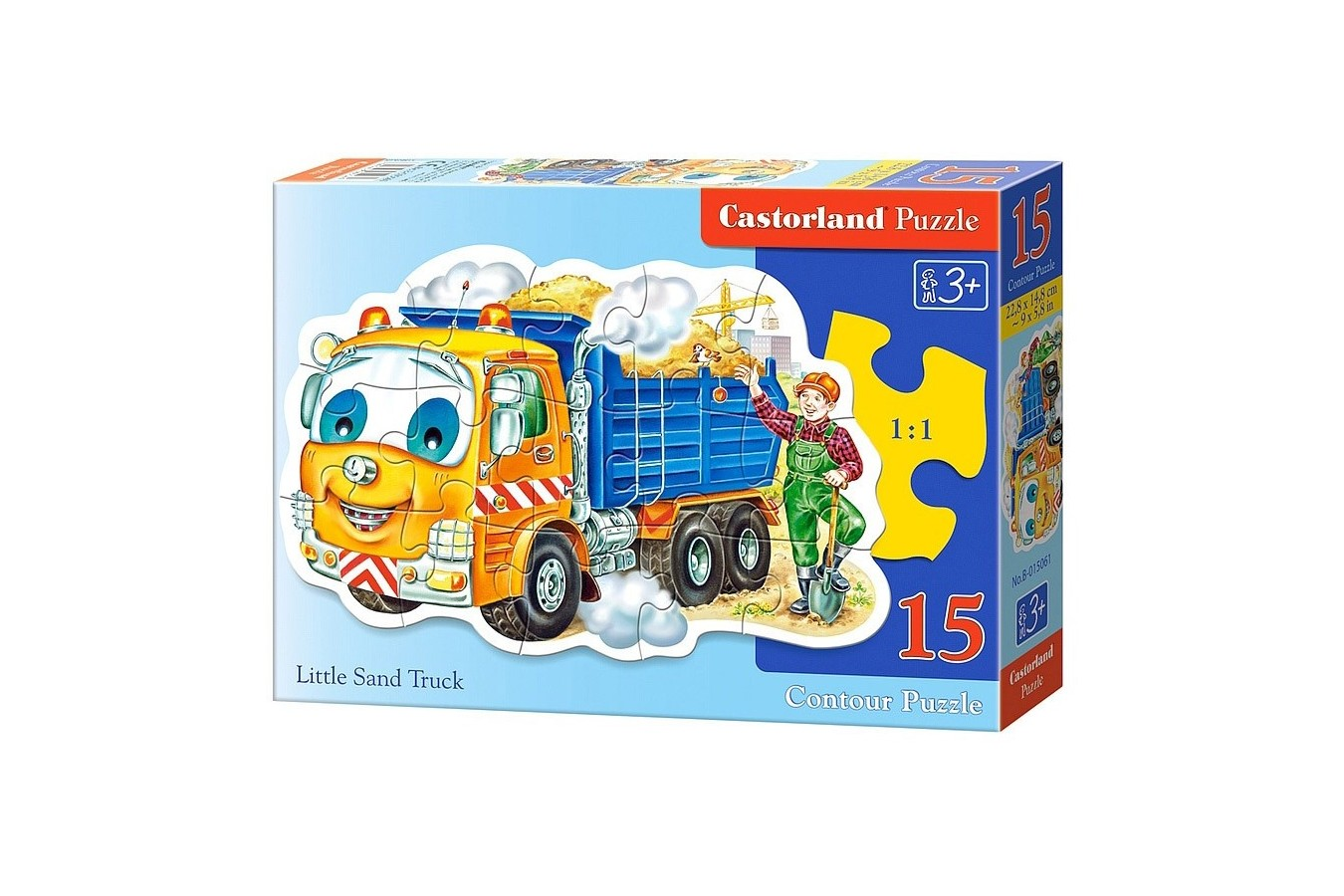 Puzzle Castorland Midi - Little Sand Truck, 15 Piese