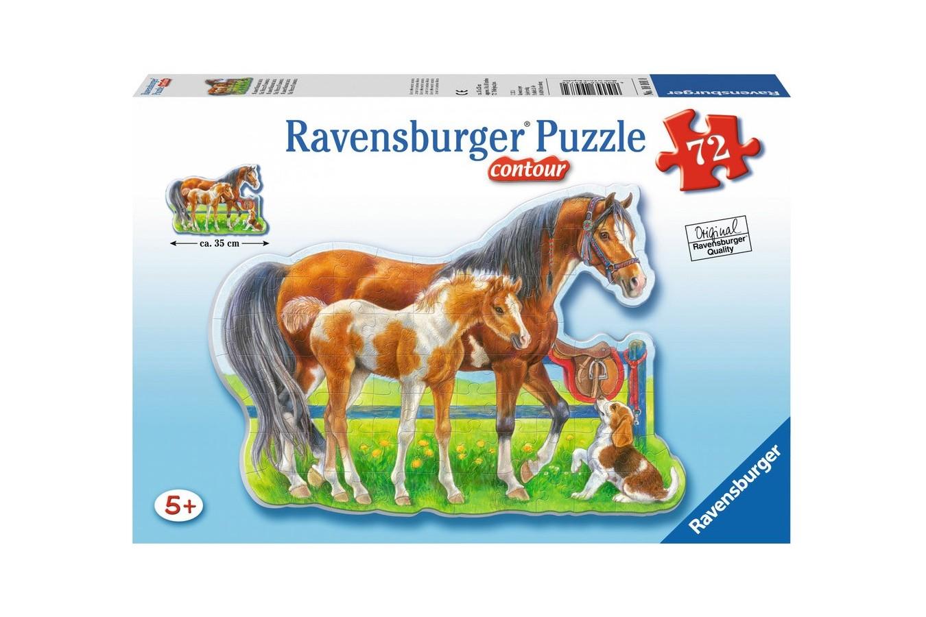 Puzzle glob Ravensburger - Cai Veseli, 72 piese (05584)