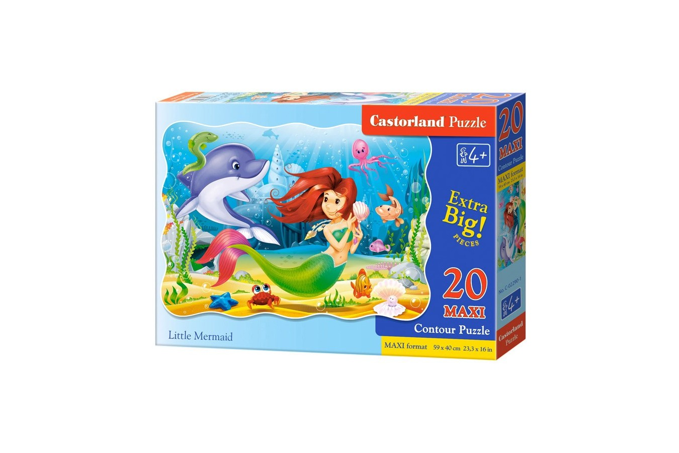 Puzzle Castorland Maxi - Little Mermaid, 20 Piese