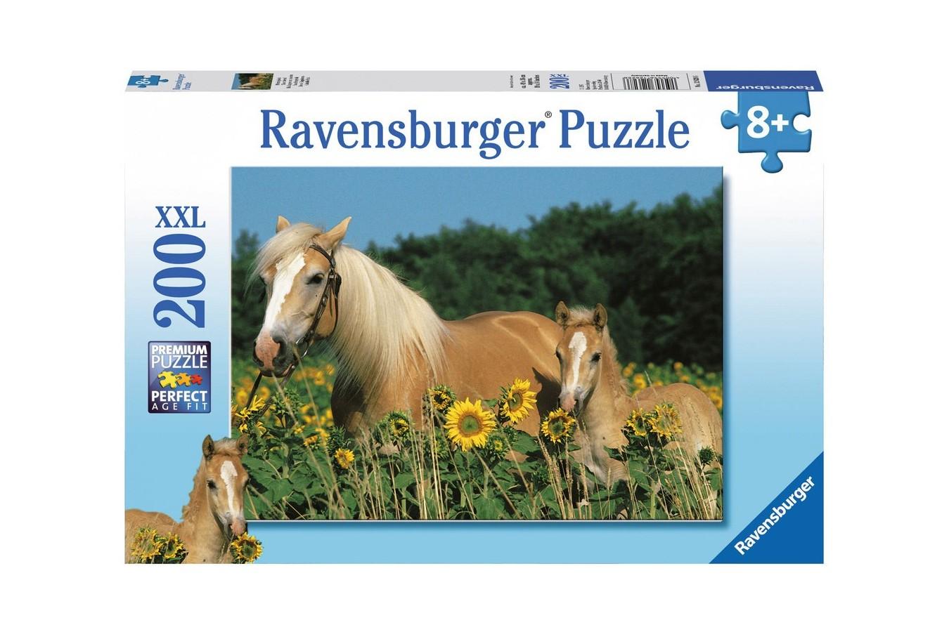 Puzzle Ravensburger - Cai, 200 piese (12628)