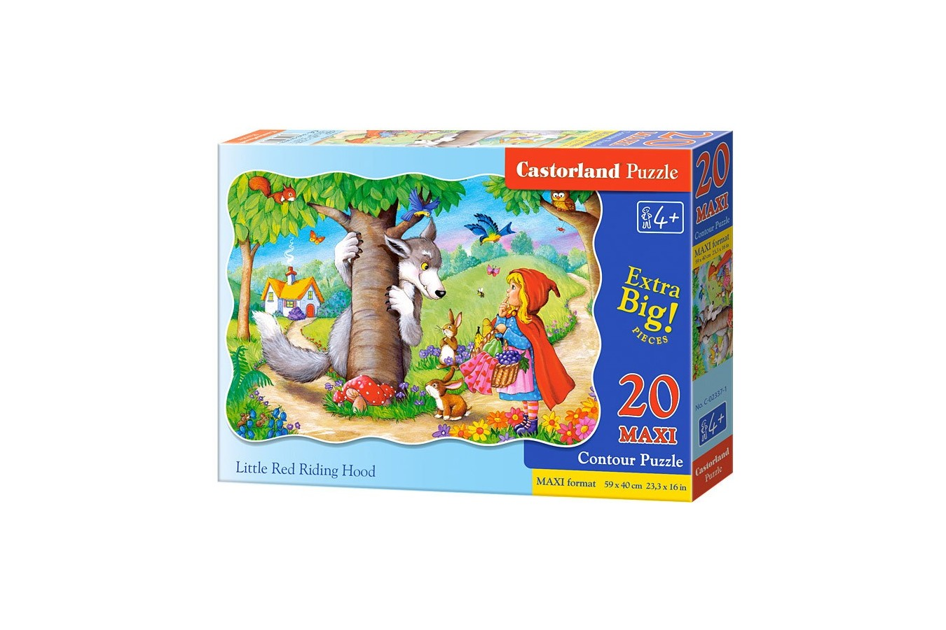 Puzzle Castorland Maxi - Little Red Riding Hood, 20 Piese