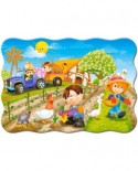Puzzle Castorland - A Day On The Farm, 30 Piese