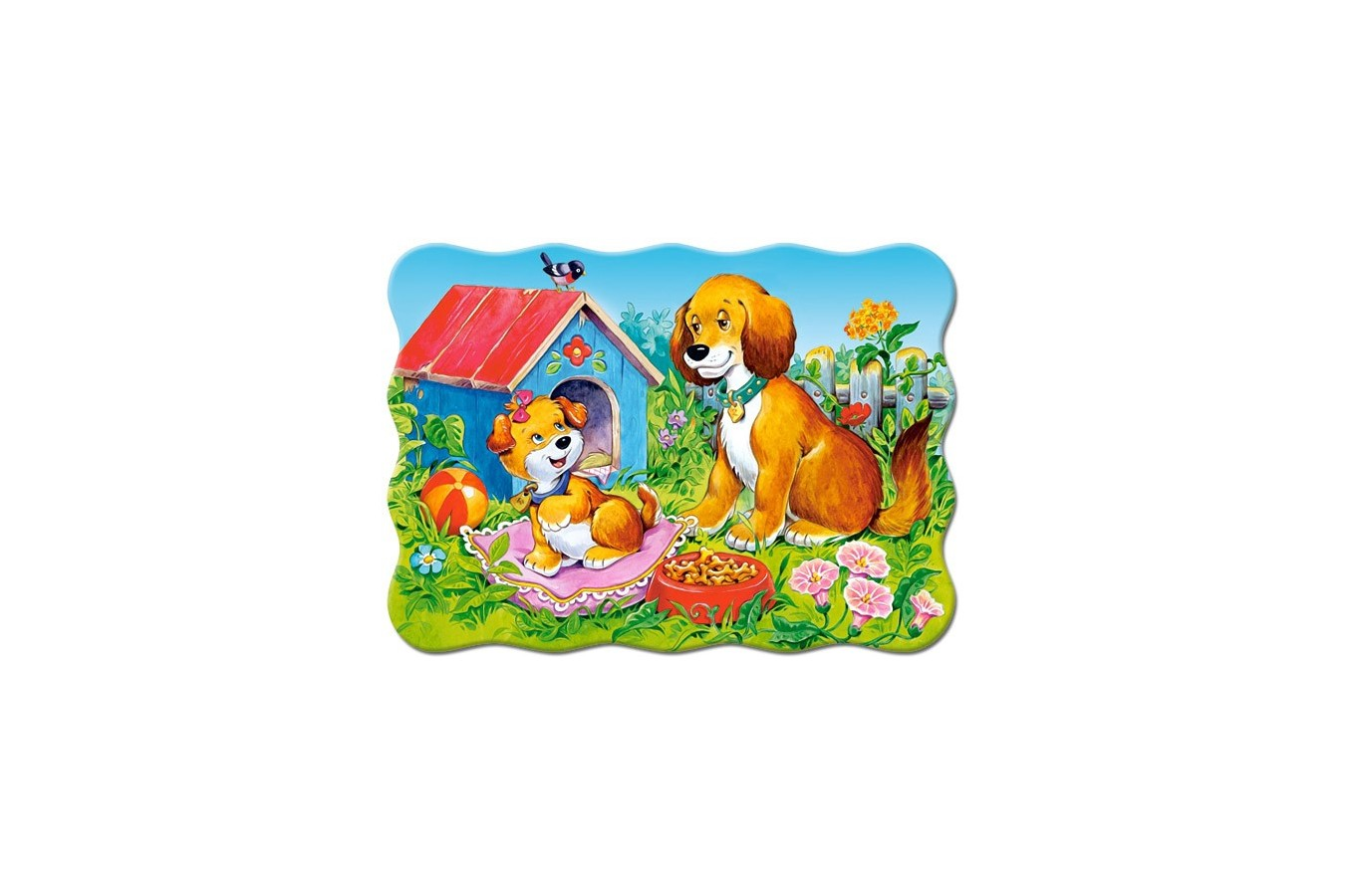 Puzzle Castorland - Dogs In The Garden, 30 Piese