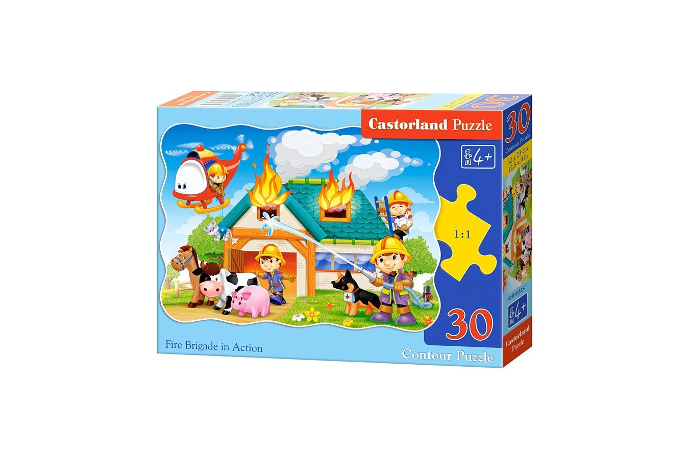 Puzzle Castorland - Fire Brigade In Action, 30 Piese