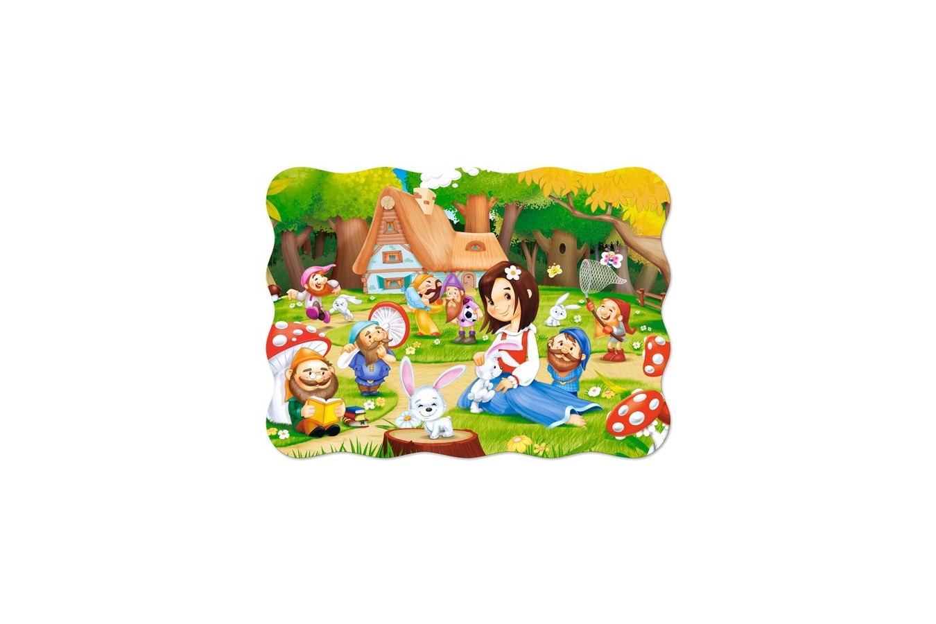 Puzzle Castorland - Snow White And The Seven Dwarfs, 30 Piese