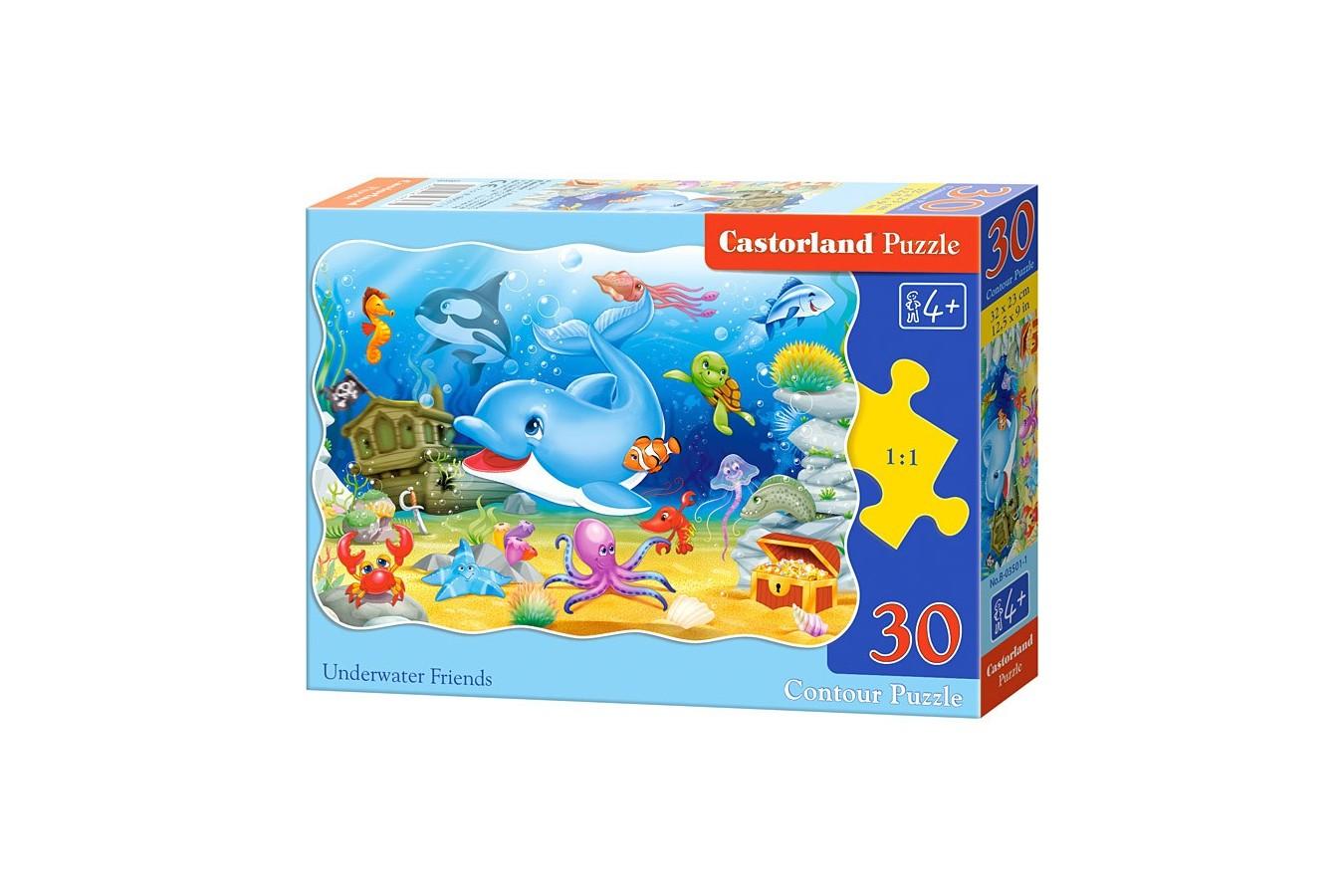 Puzzle Castorland - Underwater Friends, 30 Piese