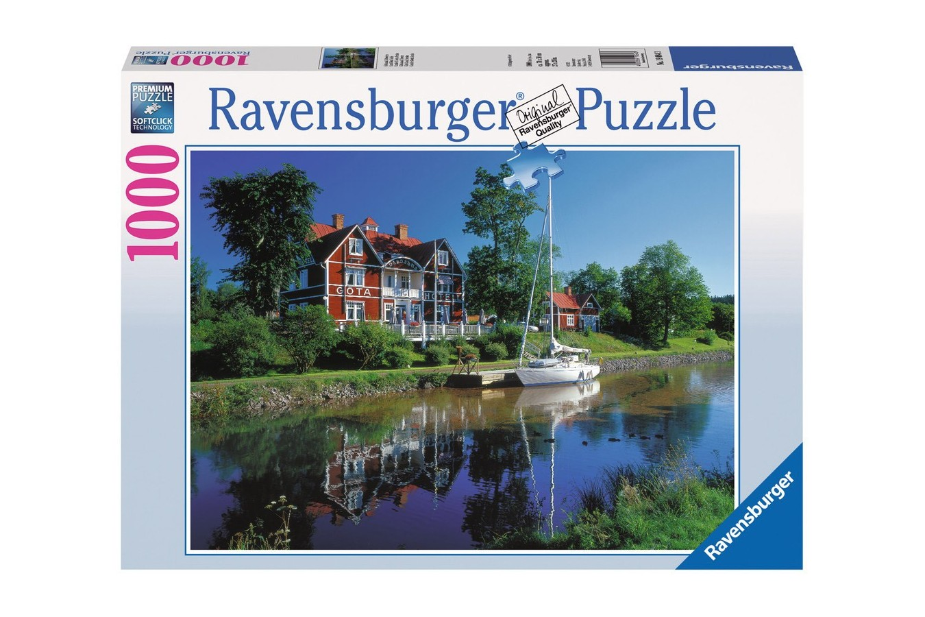 Puzzle Ravensburger - Canalul Gota, 1.000 piese (19084)