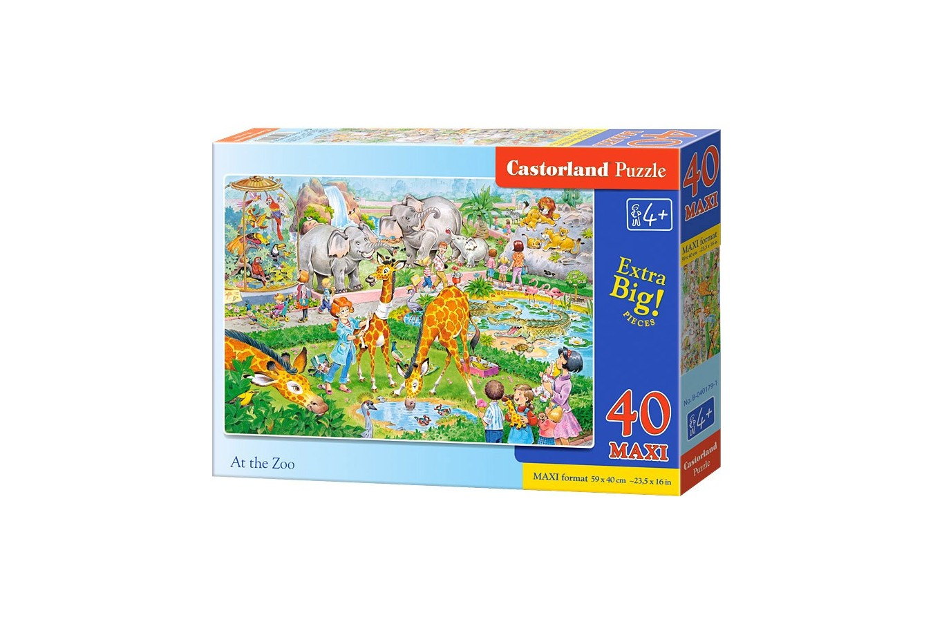 Puzzle Castorland Maxi - At The Zoo, 40 Piese