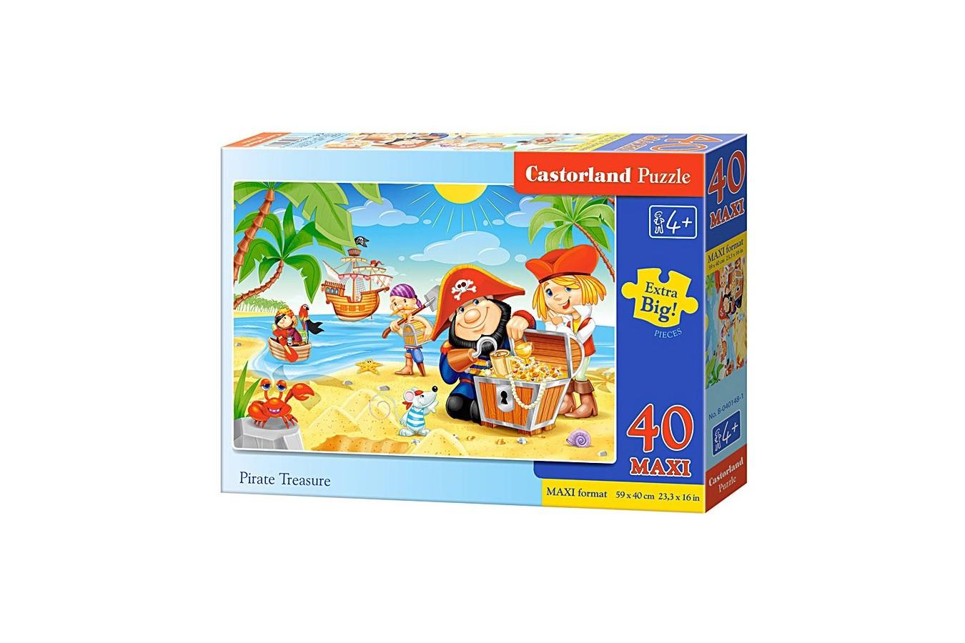 Puzzle Castorland Maxi - Pirate Treasures, 40 Piese