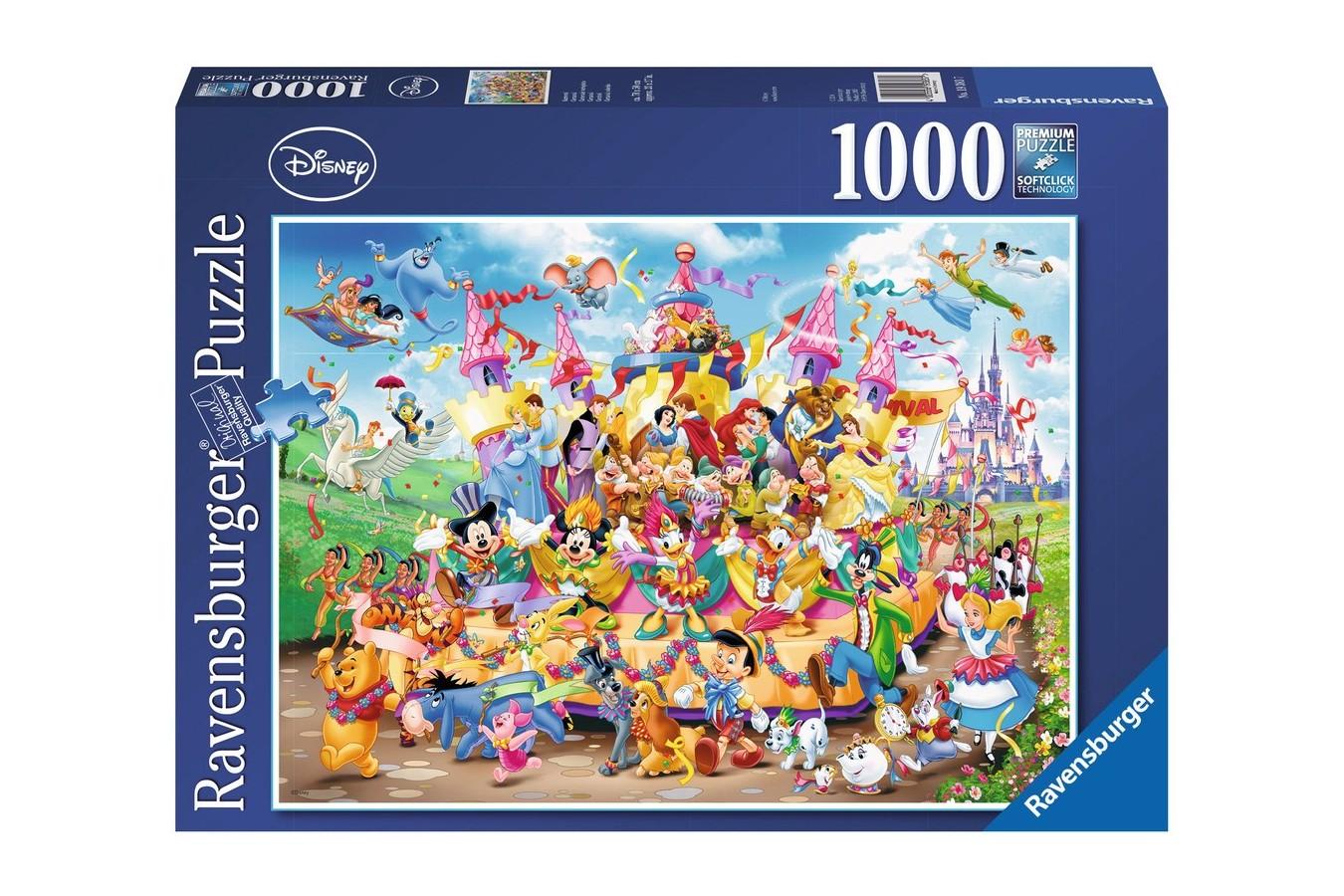 Puzzle Ravensburger - Carnavalul Disney Multicolor, 1.000 piese (19383)