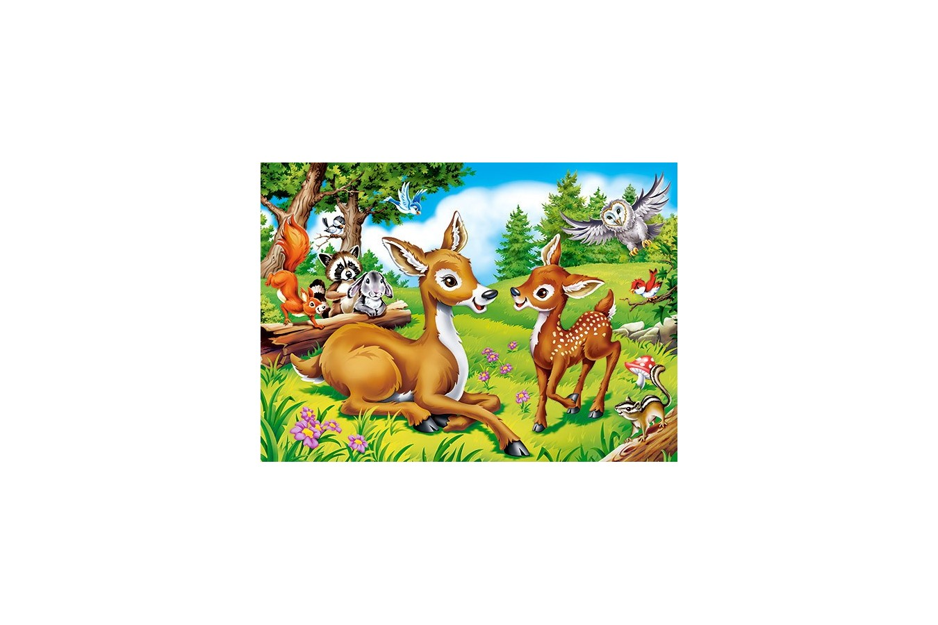 Puzzle Castorland - Dear Little Deer, 60 Piese