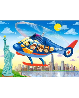 Puzzle Castorland - New York City Helicopter Tour, 60 Piese