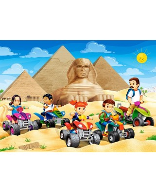 Puzzle Castorland - Quad Bikes At Giza Pyramid, 60 Piese