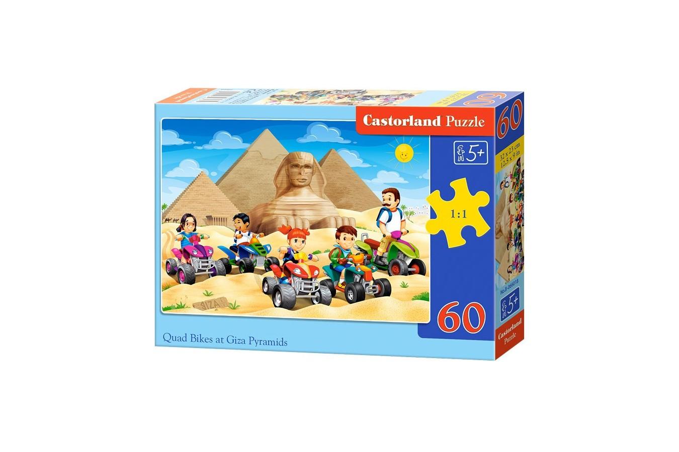 Puzzle Castorland - Quad Bikes At Giza Pyramid, 60 Piese