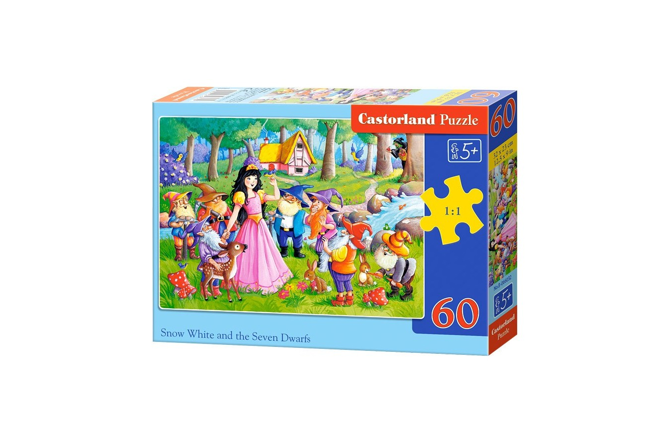 Puzzle Castorland - Snow White And The Seven Dwarfes, 60 Piese