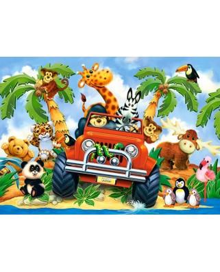 Puzzle Castorland - Softies Of Safari, 60 Piese