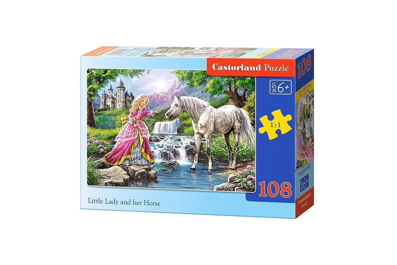 Puzzle Castorland - Little Lady And Her Horse, 108 Piese