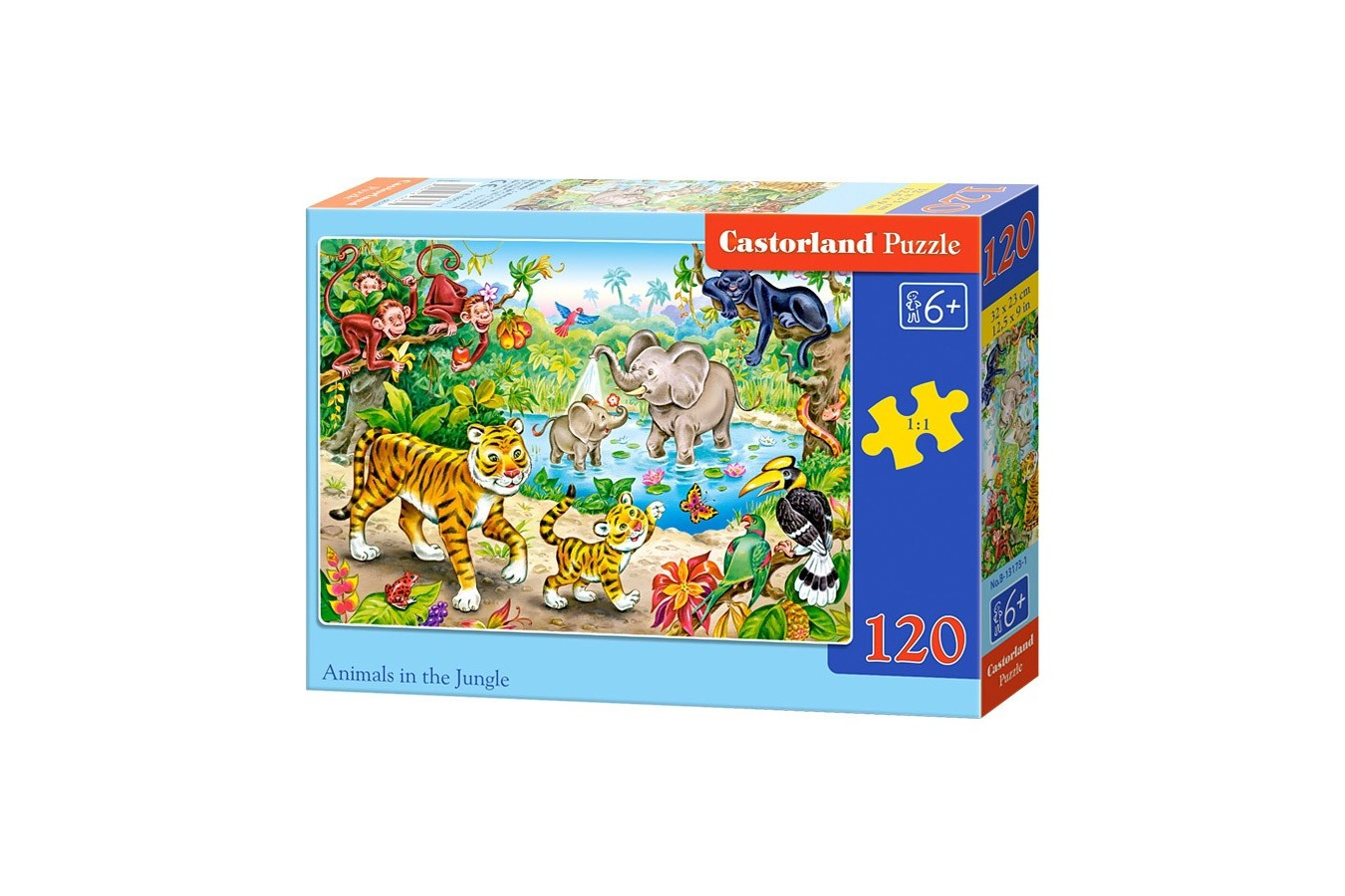 Puzzle Castorland - Animals In The Jungle, 120 Piese