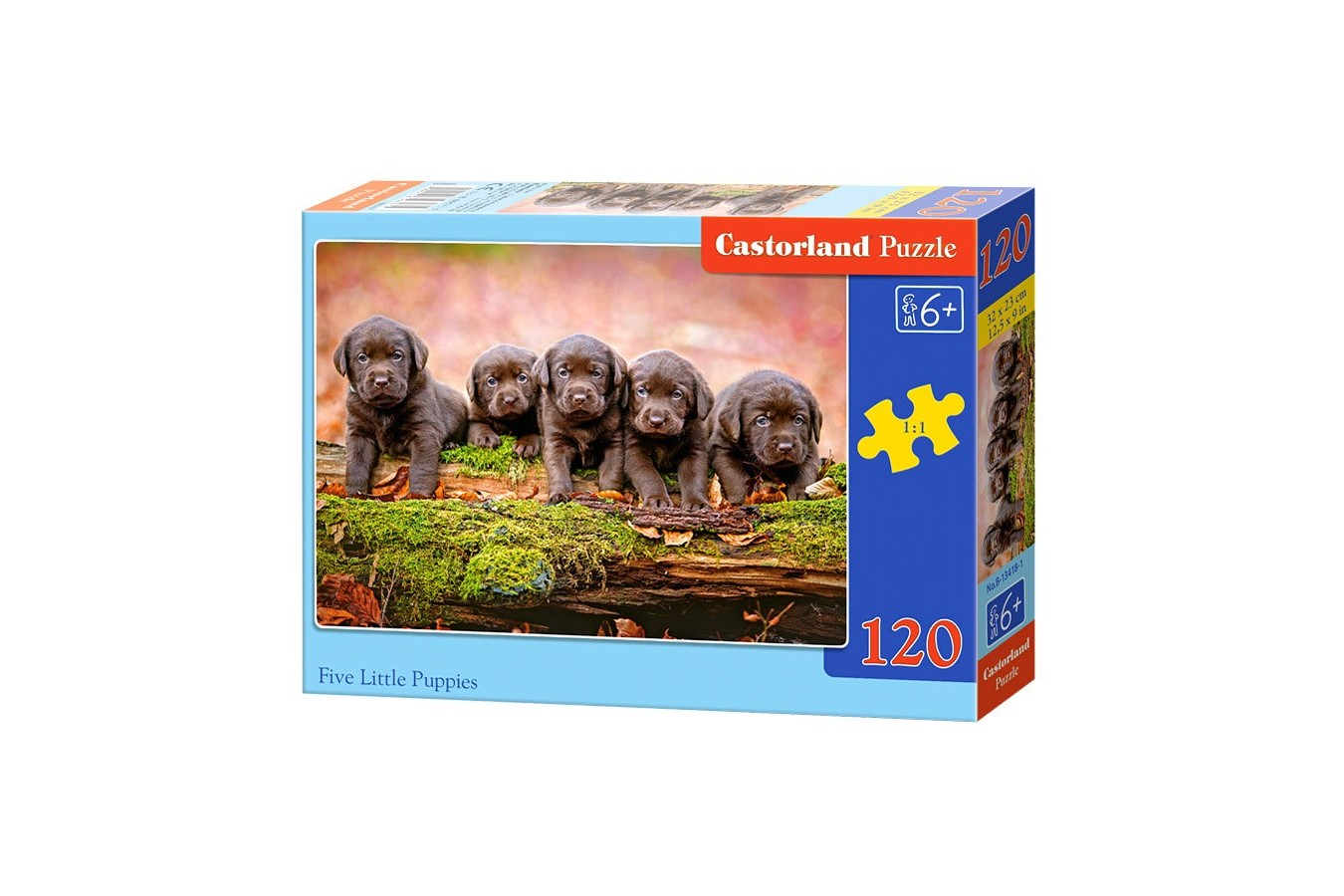 Puzzle Castorland - Five Little Puppies, 120 Piese