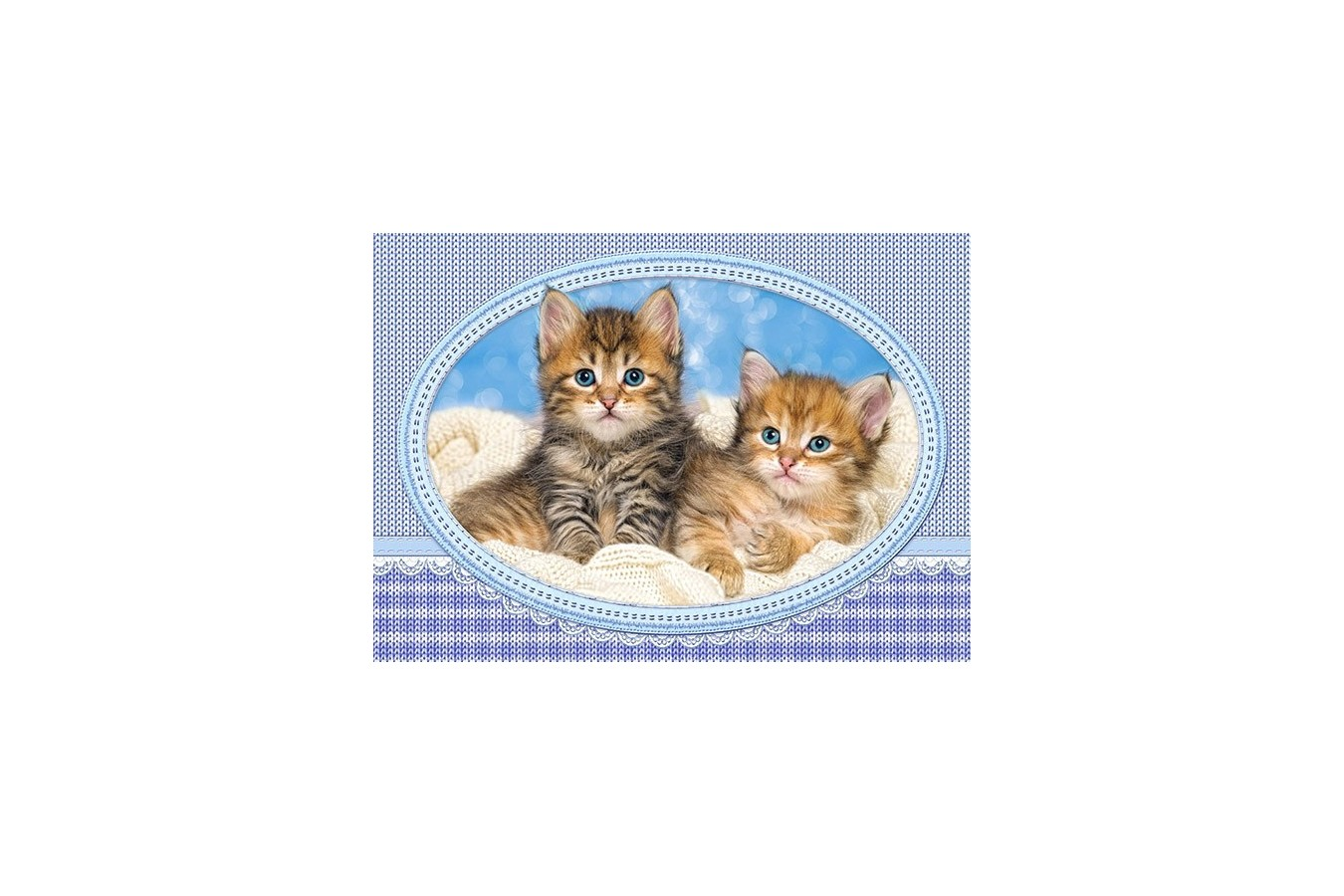Puzzle Castorland - Kittens Curling Up On A Blanket, 120 Piese