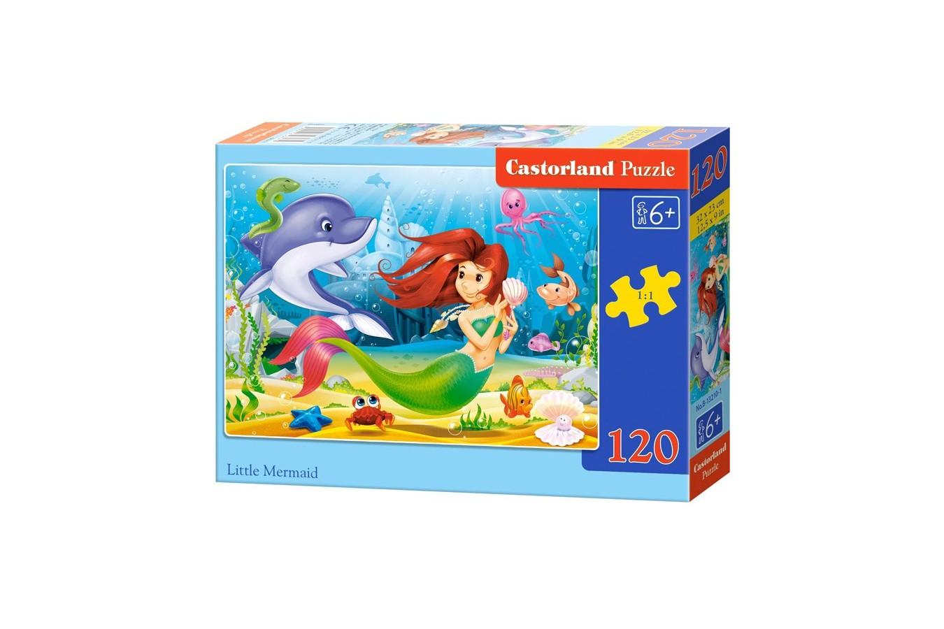 Puzzle Castorland - Little Mermaid, 120 Piese