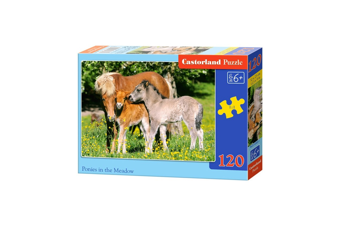 Puzzle Castorland - Ponies In The Meadow, 120 Piese