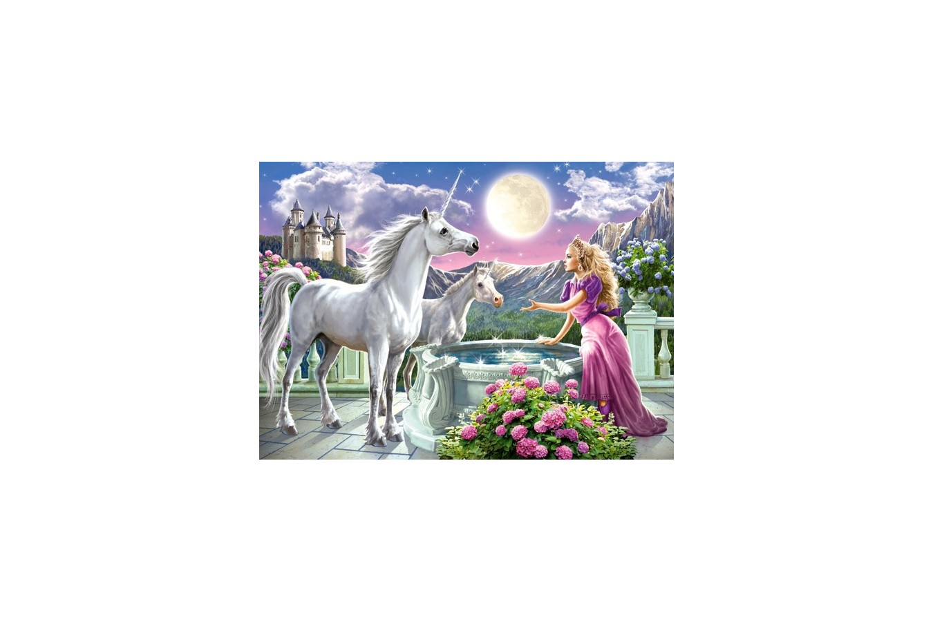 Puzzle Castorland - Princess And Her Unicorn, 120 Piese