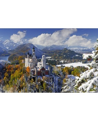 Puzzle Ravensburger - Castelul Neuschwanstein Iarna, 3.000 piese (17062)