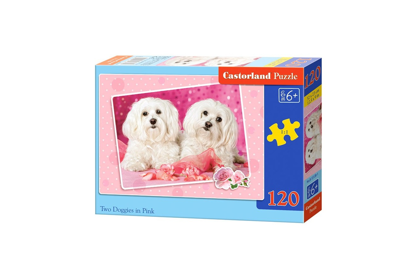 Puzzle Castorland - Two Doggies In Pink, 120 Piese