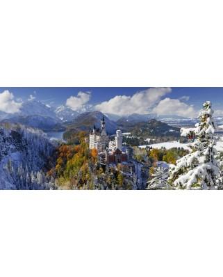 Puzzle panoramic Ravensburger - Castelul Neuschwanstein, 2.000 piese (16691)