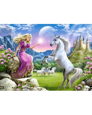 Puzzle Castorland - My Friend Unicorn, 180 Piese