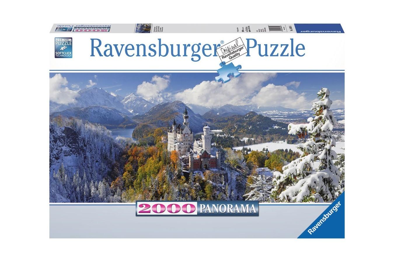 Puzzle panoramic Ravensburger - Castelul Neuschwanstein, 2000 piese (16691)