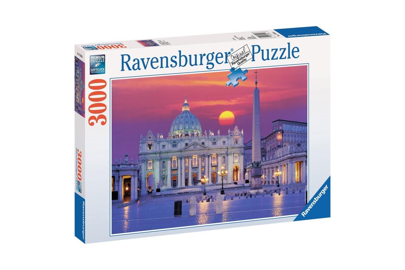 Puzzle Ravensburger - Catedrala Sfantul Petru - Roma, 3.000 piese (17034)