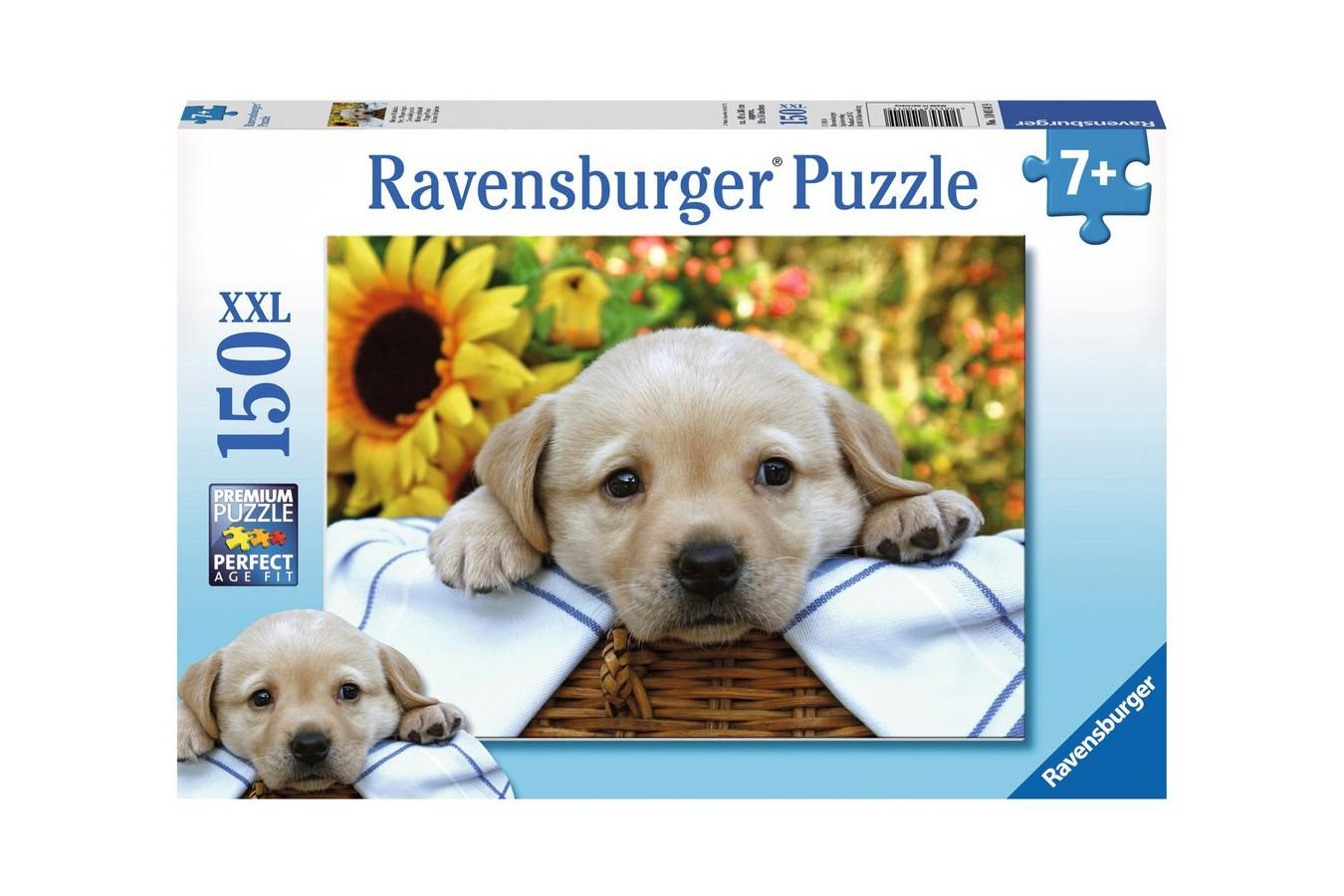 Puzzle Ravensburger - Catelus In Cos De Picnic, 150 piese (10014)