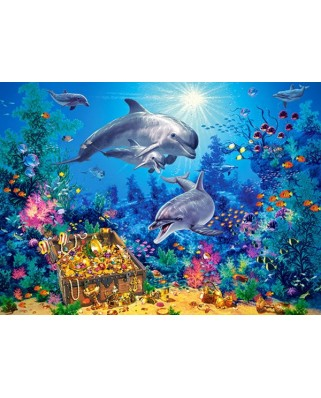 Puzzle Castorland - Dolphin Famlily, 300 Piese