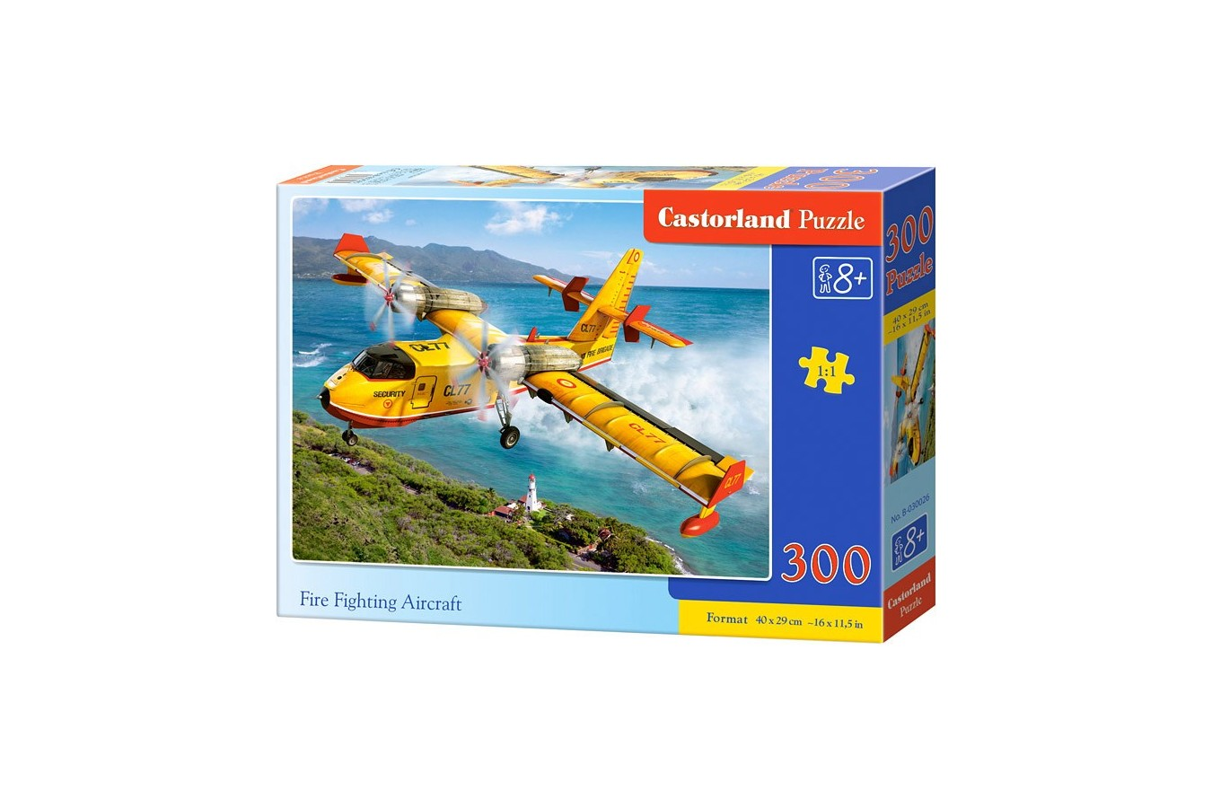 Puzzle Castorland - Fire Fighting Aircraft, 300 Piese