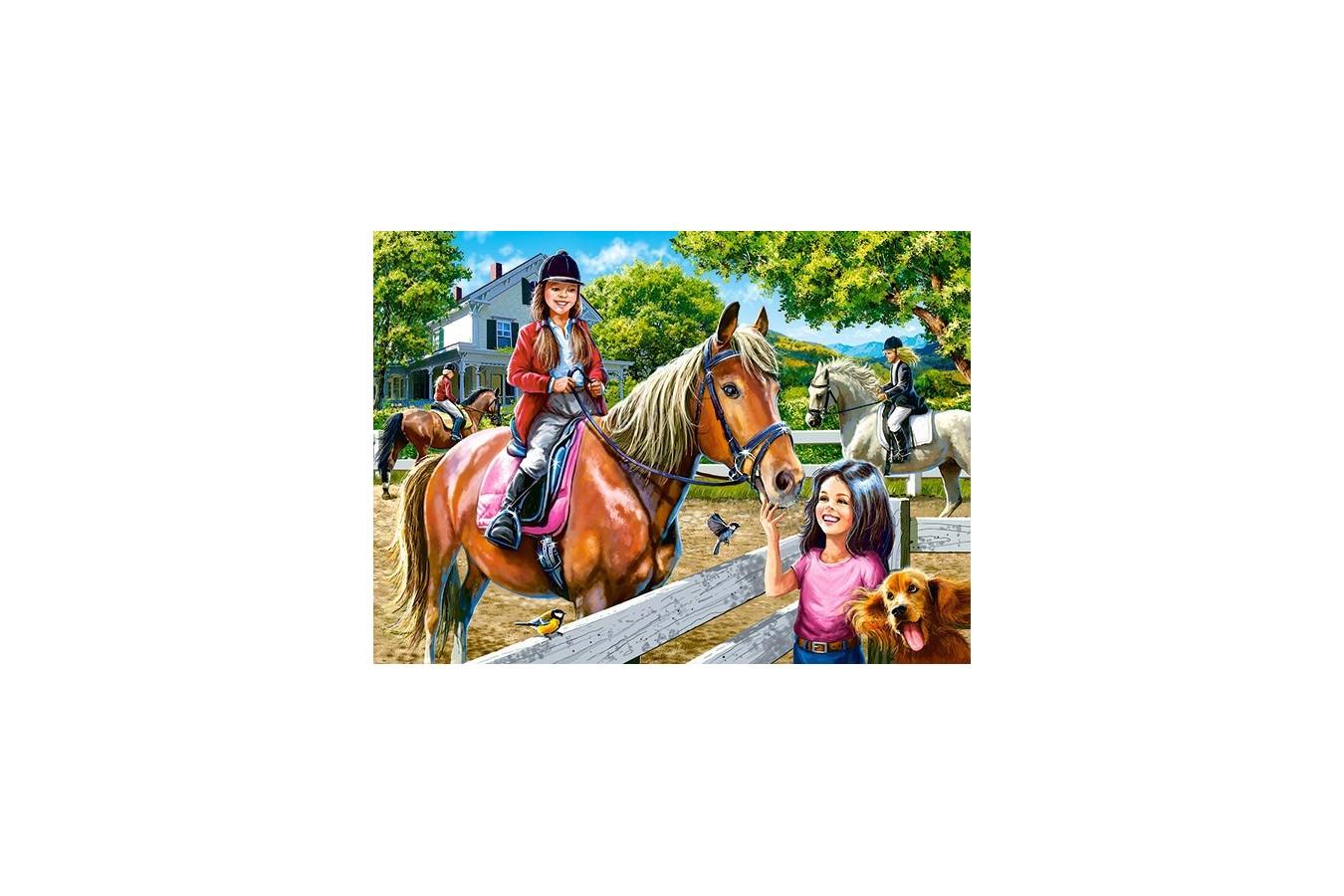 Puzzle Castorland - Horse Riding, 300 Piese
