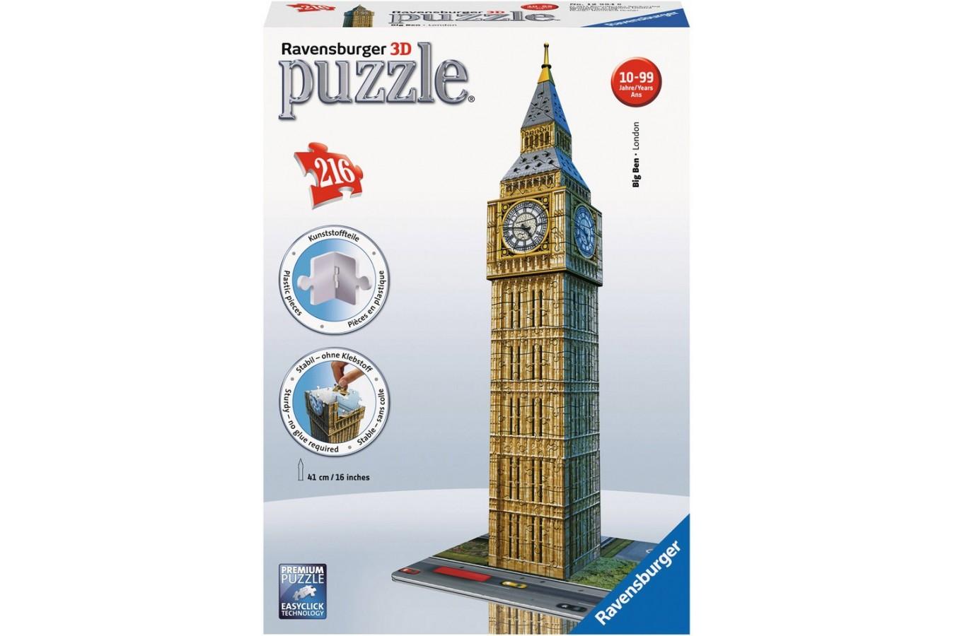 Puzzle 3D Ravensburger - Big Ben, 216 piese (12554)