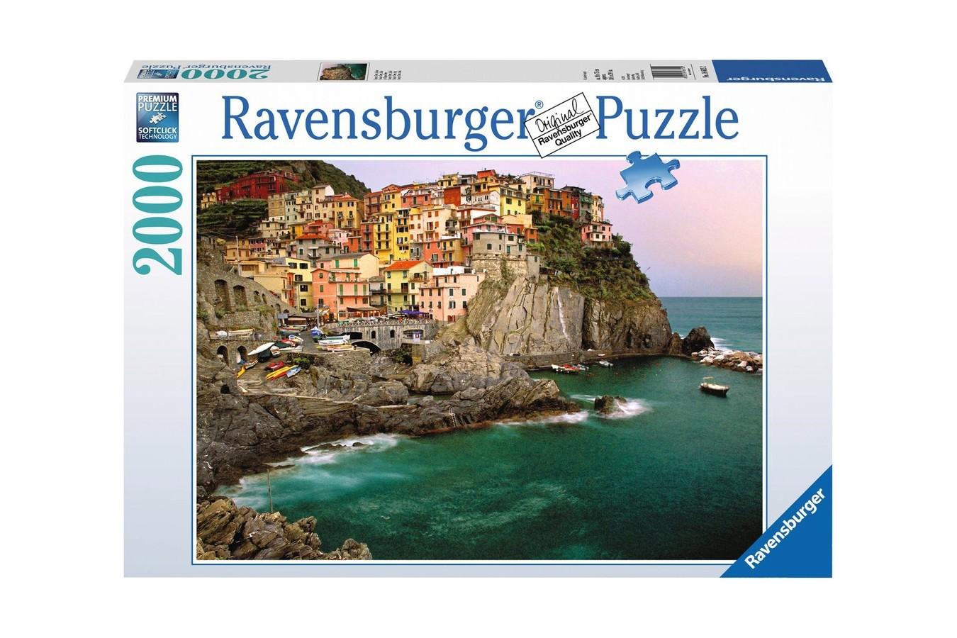Puzzle Ravensburger - Cele Cinci Pamanturi - Italia, 2.000 piese (16615)