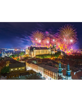 Puzzle Castorland - Fireworks Over Wawel Castle, 500 Piese